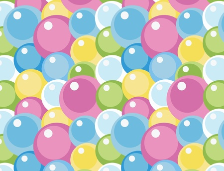 colorful bubbles ornamental seamless background, eps 8 Vector