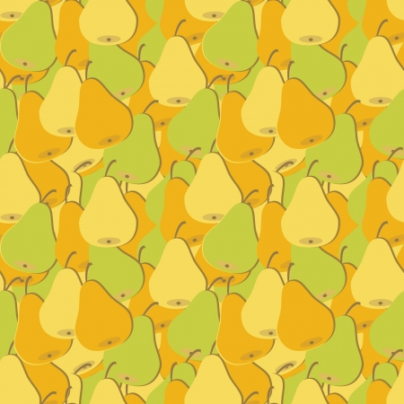 seamless pattern with pears Illustration