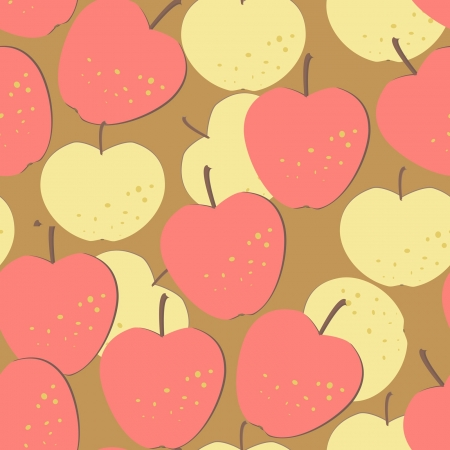 seamless pattern with yellow and red apples, eps 8