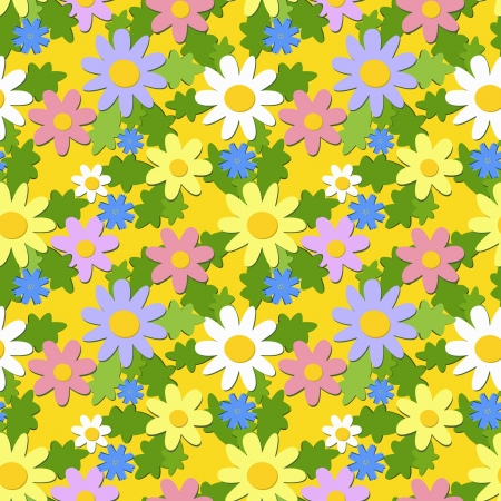 seamless summer floral ornament, eps 8 Vector