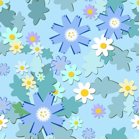 light blue flowers pattern, seamless texture Stock Vector - 13925979