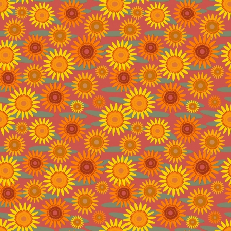 pattern with orange flowers