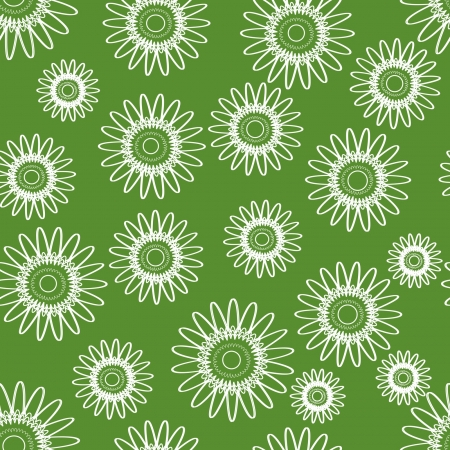ornament with countur of flowers, seamless texture