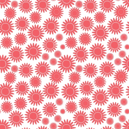 flower isolated on white, seamless texture Illustration
