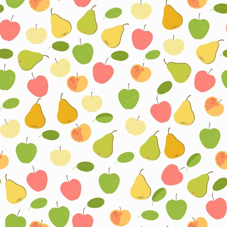 fruit seamless ornament  isolated on white background Vector