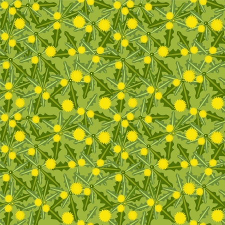 dandelion flowers in bloom on the meadow, seamless texture