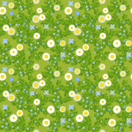 meadow with flowers and grass Stock Vector - 14119320