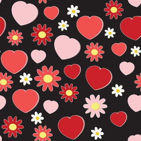 seamless pattern with hearts Stock Vector - 14119317