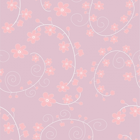 light pink seamless pattern with gentle flowers Stock Vector - 14555089