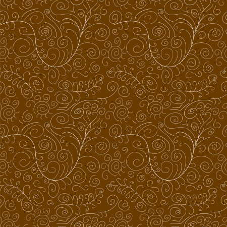 brown seamless intricate pattern with white swirls