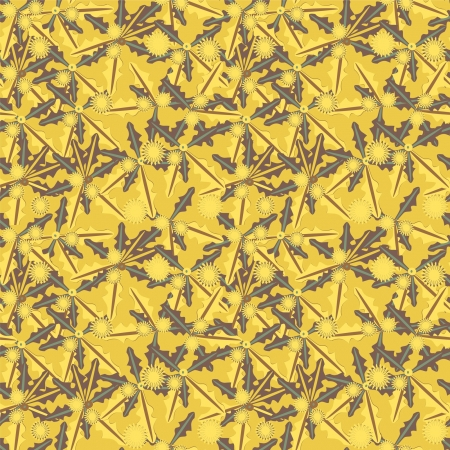 abstract seamless pattern in yellow colors Stock Vector - 14555076