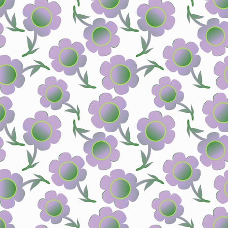 seamless floral texture with light lilac flowers Vector