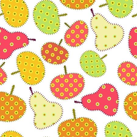 autumn fruits seamless ornament