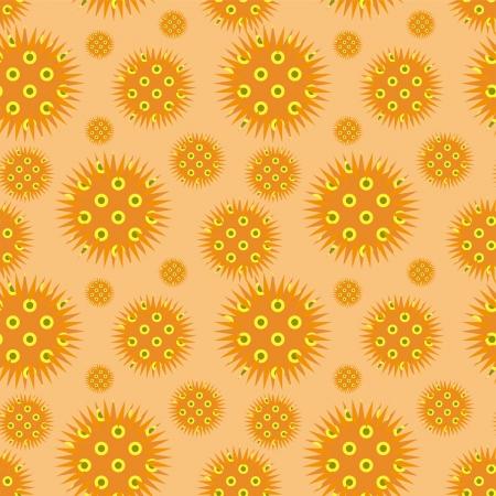 prickly: decorative light orange prickly ornament