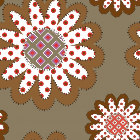 seamless floral patchwork pattern Stock Vector - 15149563