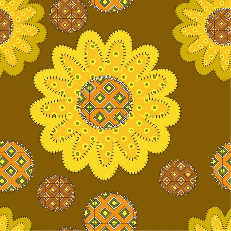 gamma: decorative patchwork sunflower ornament