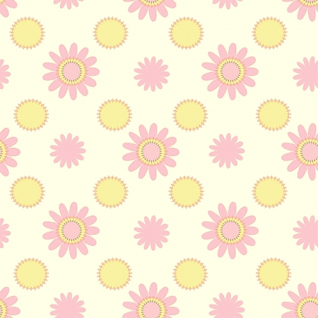 light pink and yellow floral seamless pattern Stock Vector - 15350960
