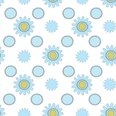light blue seamless floral ornament Stock Vector - 15350958