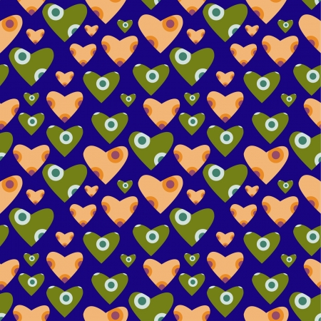 decorative funny seamless pattern with hearts Stock Vector - 15350371