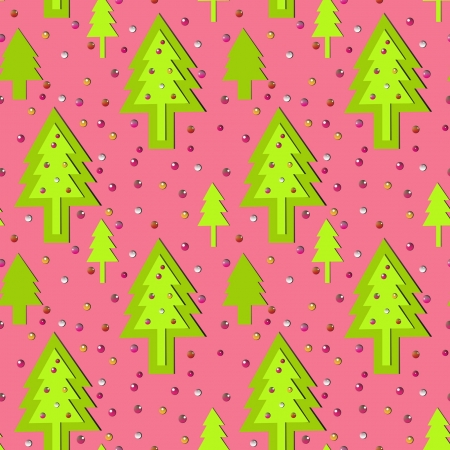 christmass: seamless pink new year ornament