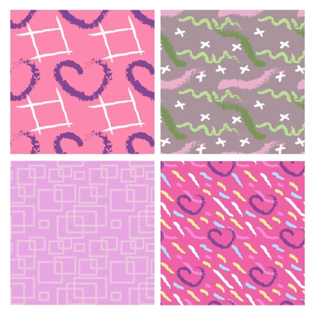 scetch: set of four decorative seamless ornaments