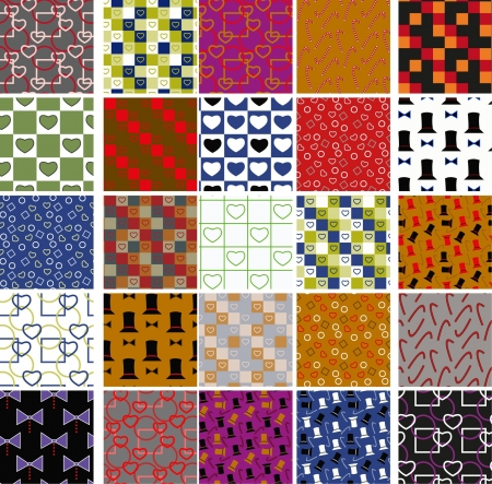 collection of seamless colorful patterns with celebrate motives Stock Vector - 16265628