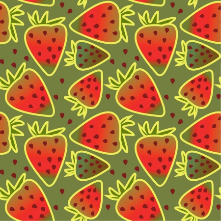 seamless ornament with decorative strawberries Stock Vector - 17569903