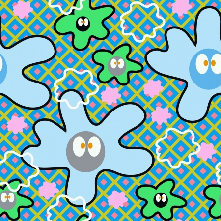 seamless pattern with smiling faces Vector