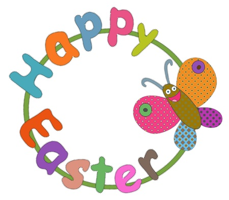 cheerful butterfly with  Easter greeting Stock Vector - 17958833