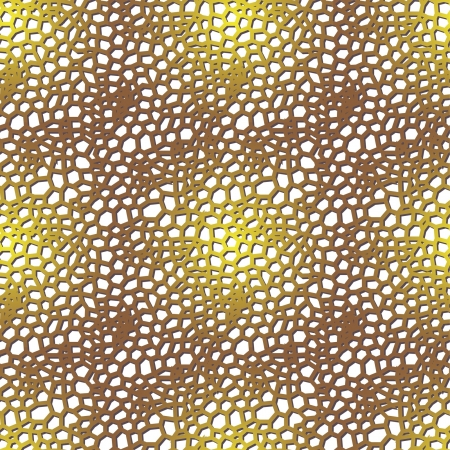 seamless pattern with golden mesh