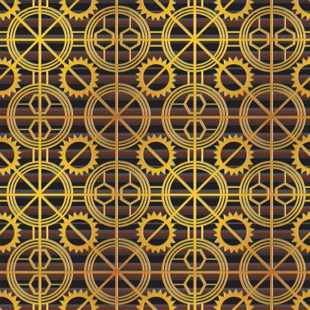 steampunk seamless ornament Vector