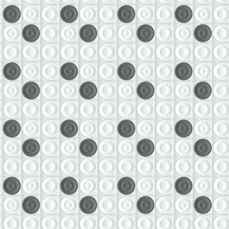 geometrical seamless 3D pattern with white and black figures Illustration