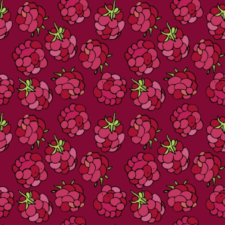 raspberry pink: seamless ornament with raspberry