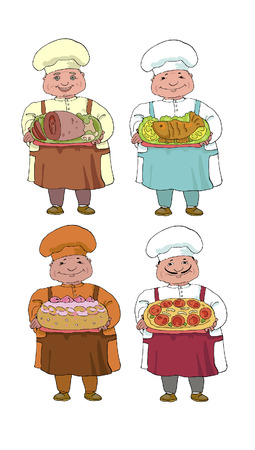 set of four cooks Vector
