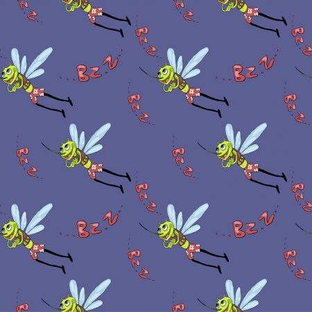 mosquitoes: funny seamless pattern with mosquitoes