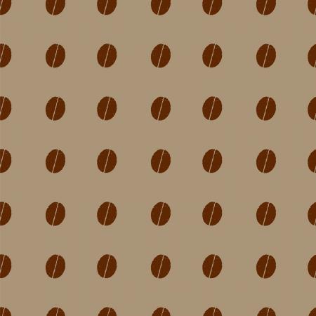 coffee beans: patr�n con los granos de caf� polka dot Vectores