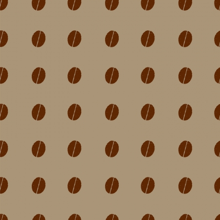 seamless pattern with coffee beans polka dot Vector