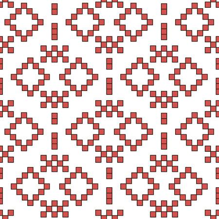 etnic: seamless ornament with folk motives