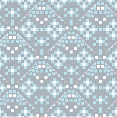 decorative light blue seamless ornament with geometric figures