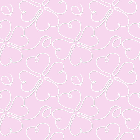 trifolium: seamless pattern with clower leaves