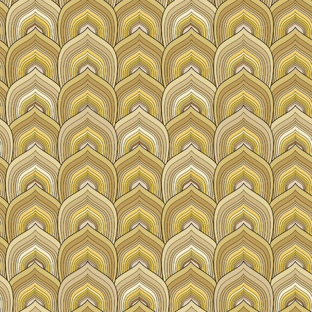snakeskin: decorative gold scale seamless pattern
