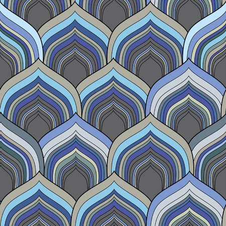 snakeskin: decorative seamless blue scale pattern