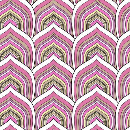 snakeskin: decorative pink scale seamless pattern Illustration