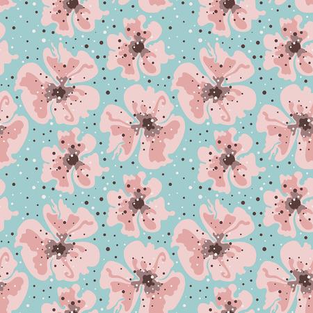 poppy pattern: seamless poppy pattern