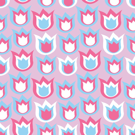 pink and blue bells on decorative background