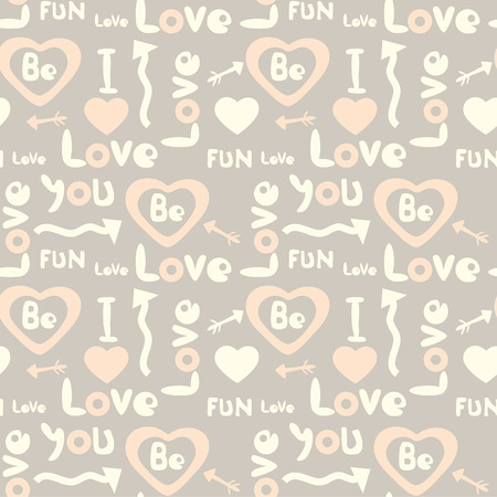 decorative seamless pattern with love symbols Vector
