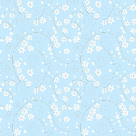 decorative seamless spring pattern Illustration