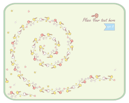 decorative spring background with birds