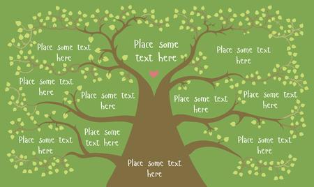 concetto di albero per infografica