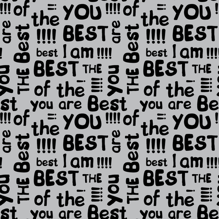 Decorative seamless pattern with crossed words best of the best Illustration